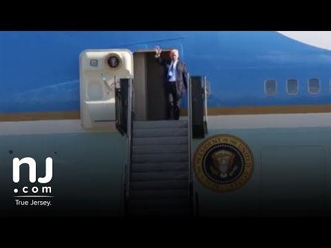 President Trump arrives in New Jersey