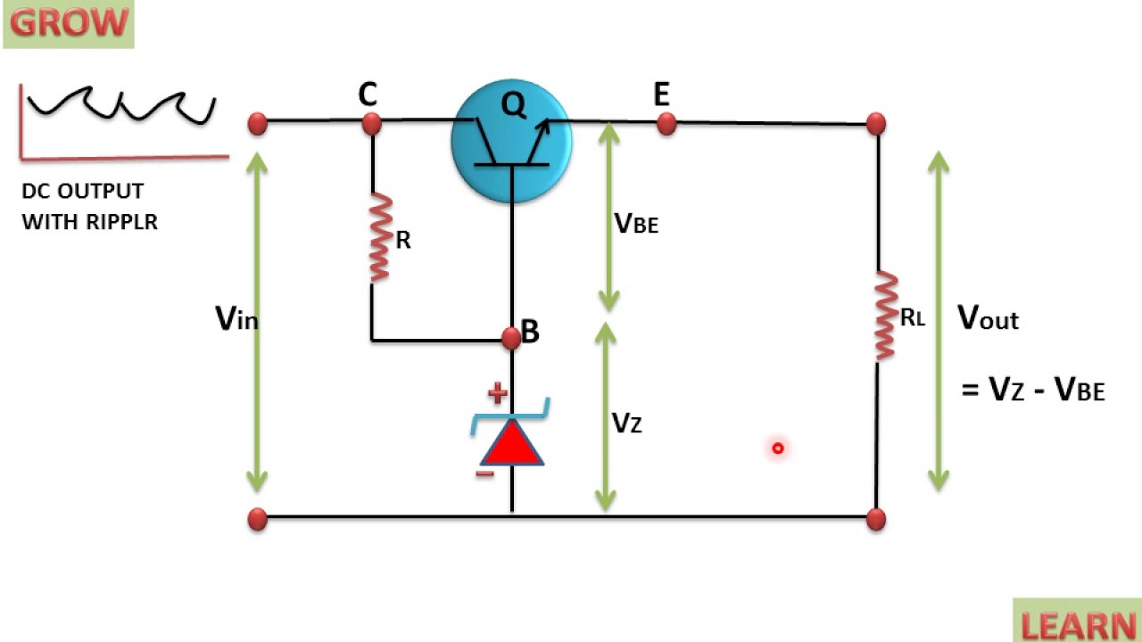 Transistor Series Voltage Regulator Learn And Grow Circuit Diagram