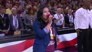 Cleveland Crowd Sings Game 3 National Anthem