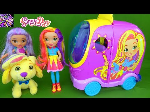 Sunny Day Toys Blair Doodle Rox Glam Vanity Salon Van Nickelodeon Nick Jr Doll Toys For Girls Video