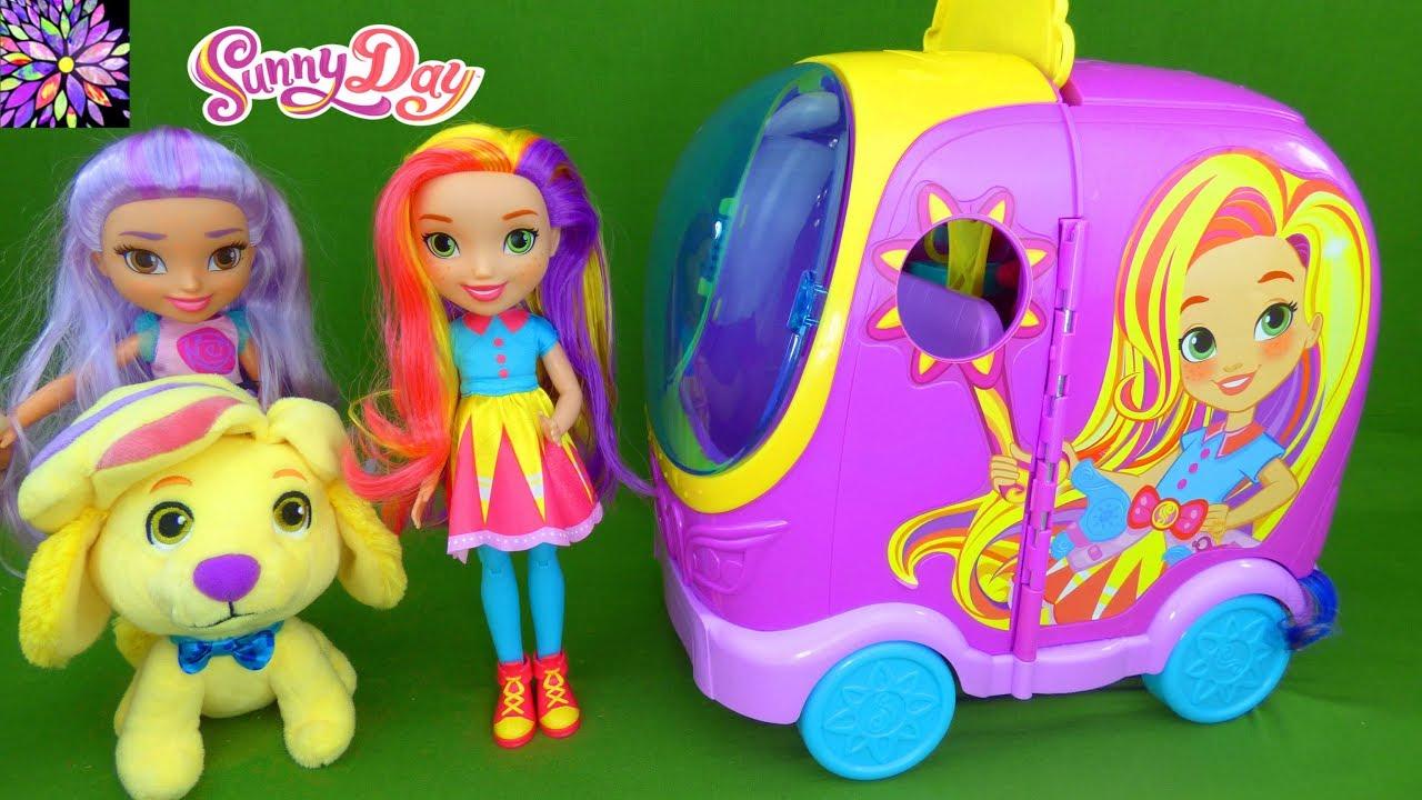 Sunny day toys blair doodle rox glam vanity salon van nickelodeon