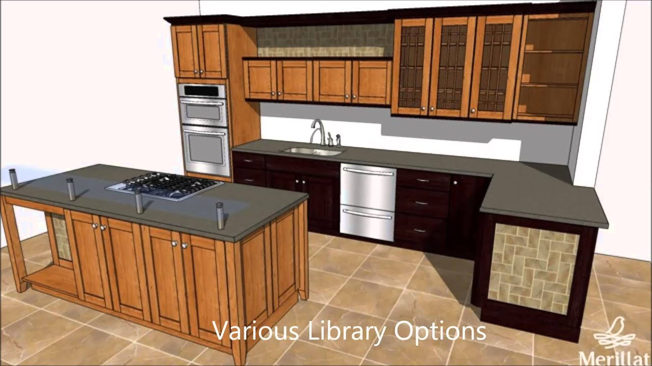 Free cabinet design software youtube for Kitchen design program