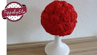 Cupcakes Blumenstrauß Rosenstrauß aus Sahne Anleitung Deutsch schnell & einfach