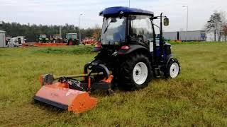 Ciągnik rolniczy komunalny Lovol 504 z kosiarką bijakową Orkan KTBC 160