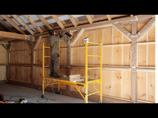 This SHOULD Explain IT -- Next step getting the Post & Beam Barn Ready for Spray Foam Insulation