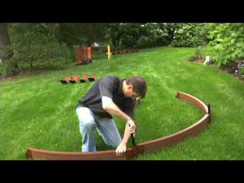 How To Build A Circle Garden Youtube