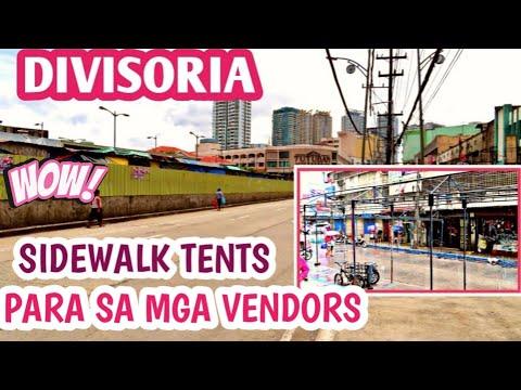 MANILA LATEST UPDATE / MAGLALAGAY NA NG TENT PARA MGA SIDEWALK VENDORS
