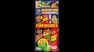 TNT Fireworks Backyard Show Walmart Unboxing and Lighting Them Off