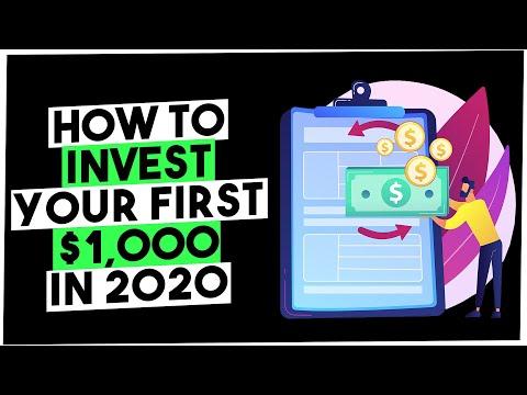 Hoe u uw eerste $ 1.000 in 2020 investeert-Hoe u 1000 dollar investeert