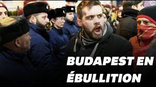 En Hongrie, des milliers de manifestants paralysent le parlement
