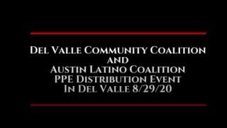 Del Valle PPE Drive 8-29-2020