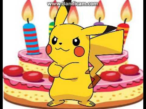 Happy birthday video cardPikachu YouTube – Birthday Pikachu Card