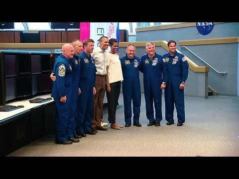 First Family Tours Kennedy Space Center