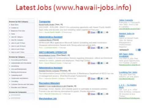 Hawaii Jobs | Jobs In Hawaii | Hawaii State Jobs