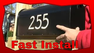 How To Install A New Mailbox And Wooden Post