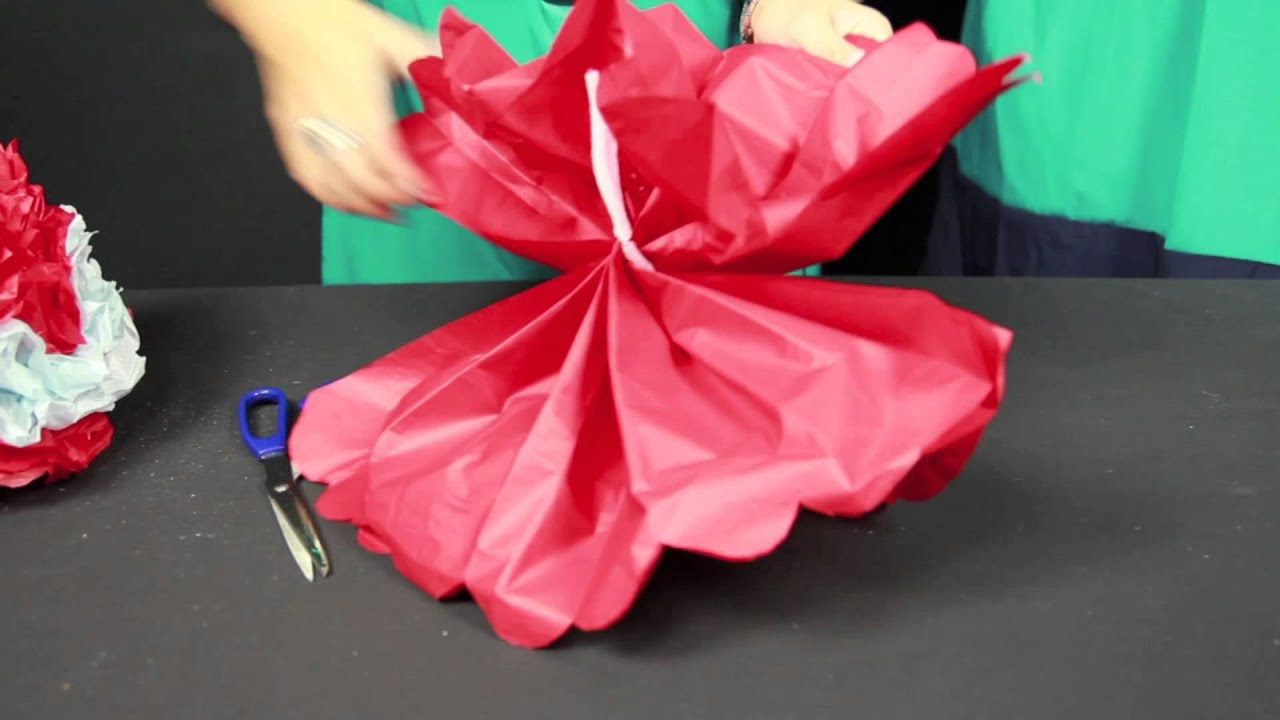 How To Make Paper Pom Poms Youtube