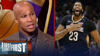 Richard Jefferson says AD is the 'most likely' choice to join the Lakers | NBA | FIRST THINGS FIRST thumbnail