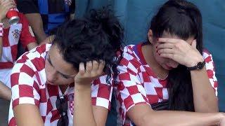 WM-Finale: Traurige Kroatien-Fans nach Niederlage gegen Frankreich