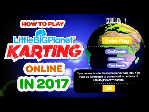 How To Play LittleBigPlanet Karting Online *2017* (Problem Solved)