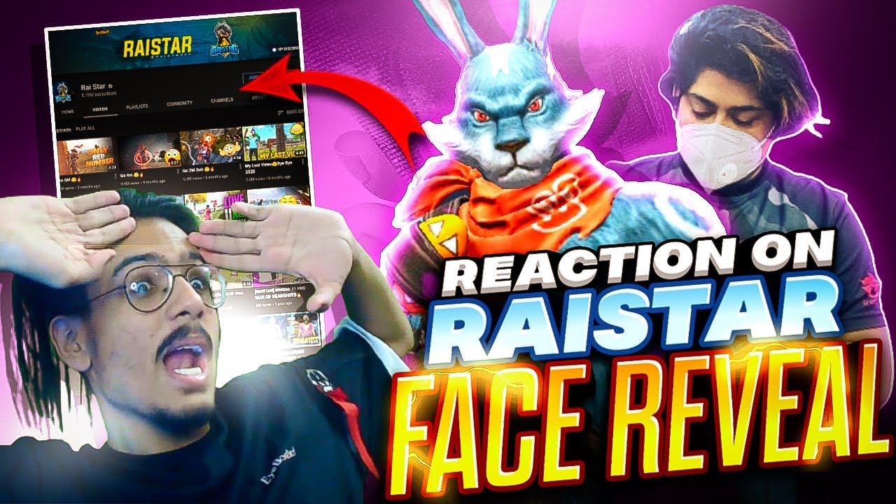 RAISTAR FACE REVEAL REACTION ON RAISTAR FACE REVEAL GARENA FREE FIRE
