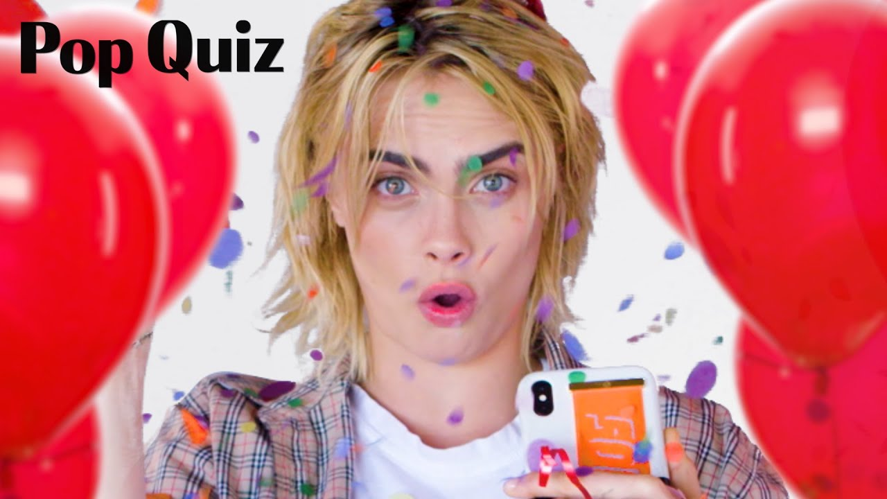 September Cover Star Cara DeLevingne Loves Ariana Grande | Pop Quiz | Marie Claire