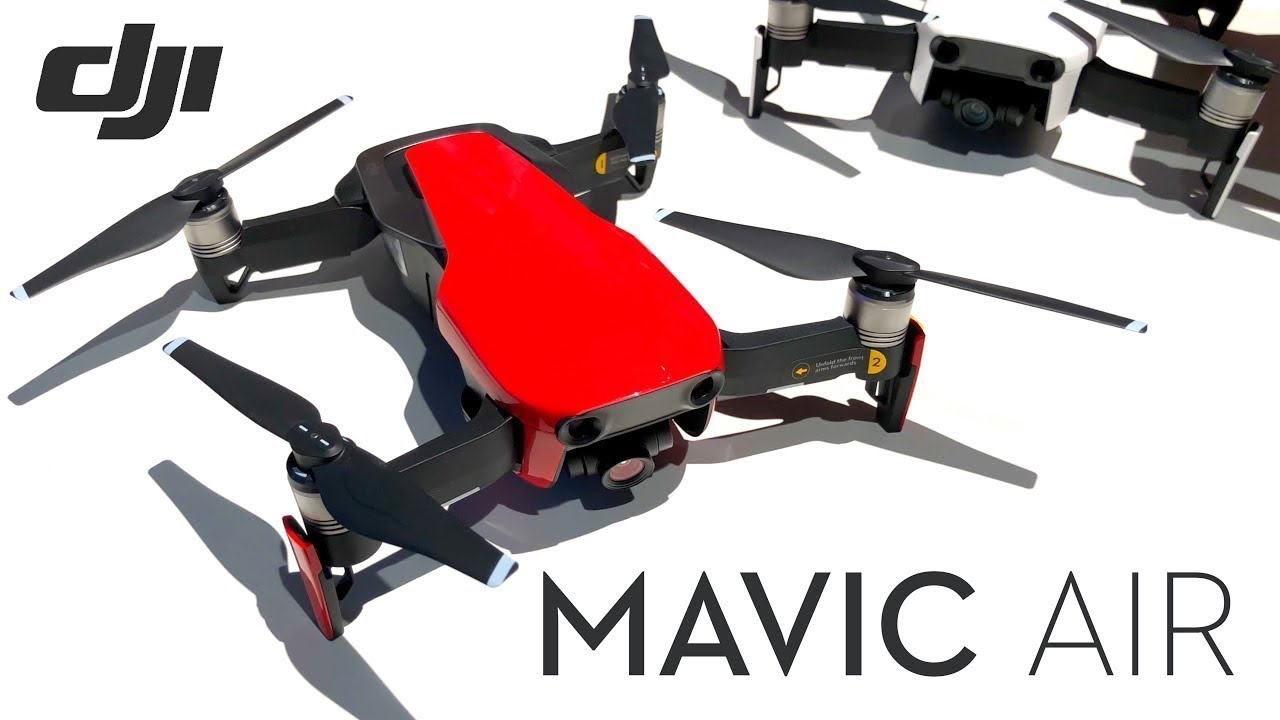 DJI MAVIC AIR FLY MORE COMBO FLAME RED UNBOXING