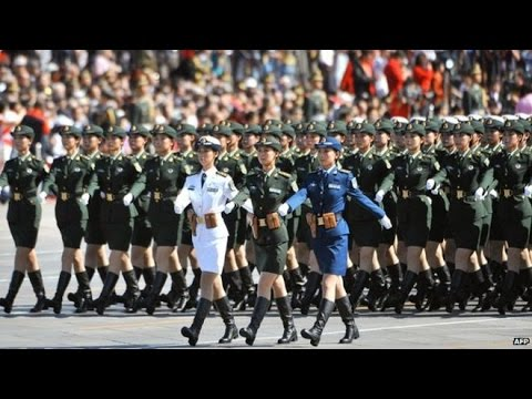 China Anniversary Military Parade - Chinese Female Soldiers