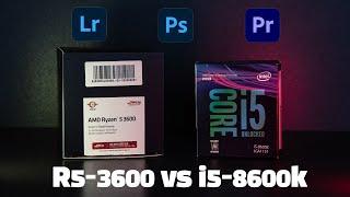 라이젠5 3600 vs i5-8600k 어도비(라이트룸…