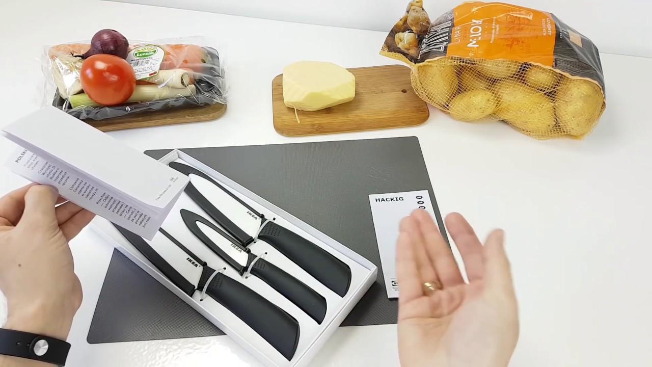 Noże ceramiczne HACKIG IKEA Recenzja test