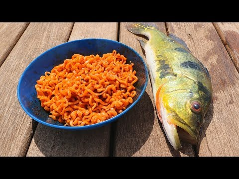 Catch n' Cook Fish with SPICY Ramen Noodles