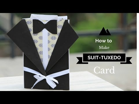 DIY: Suit-Tuxedo Card | Easy Card Idea | Start to end Tutorial | How to make Suit Tuxedo Card