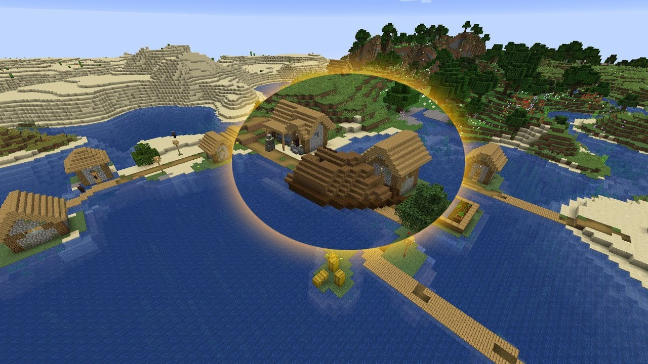 Minecraft 10.105 Seed 10: Four villages and five desert temples