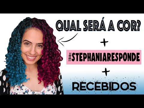 MUDEI A COR DO CABELO! 😱 + RECEBIDOS + #STEPHANIARESPONDE   Paula Stephânia