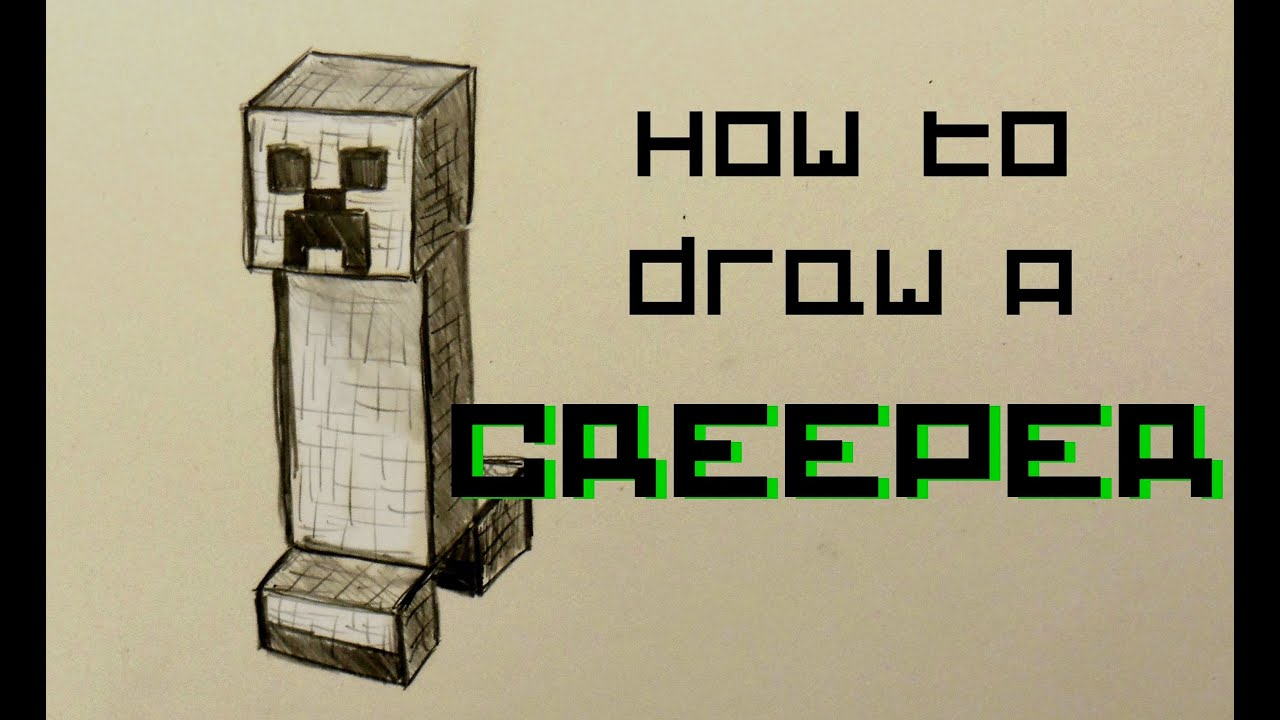 Gallery For gt Minecraft Creeper Drawing On Paper