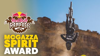 Tyler McCaul Wins the McGazza Spirit Award | Red Bull Rampage 2019