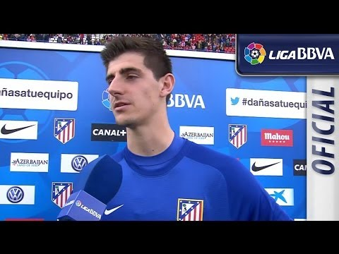 Entrevista | Interview Courtois tras el Atlético de Madrid (1-0) Villarreal CF - HD