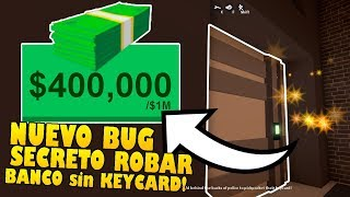 *NEW* TIP TO ROB BANK WITHOUT CARD AND GET MILLIONS OF DOLARES IN JAILBREAK!! Roblox