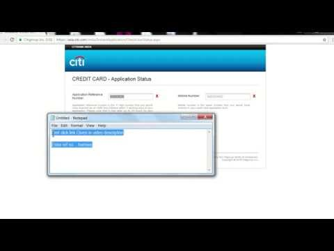 How To Check Citibank Credit Card Application Status Online