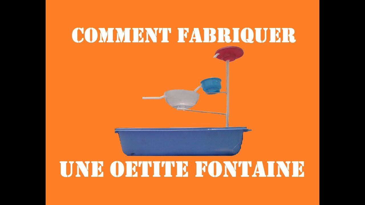 comment fabriquer une petite fontaine youtube. Black Bedroom Furniture Sets. Home Design Ideas