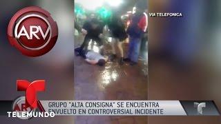 Acusan al grupo Alta Consigna de golpear a una fan | Al Rojo Vivo | Telemundo