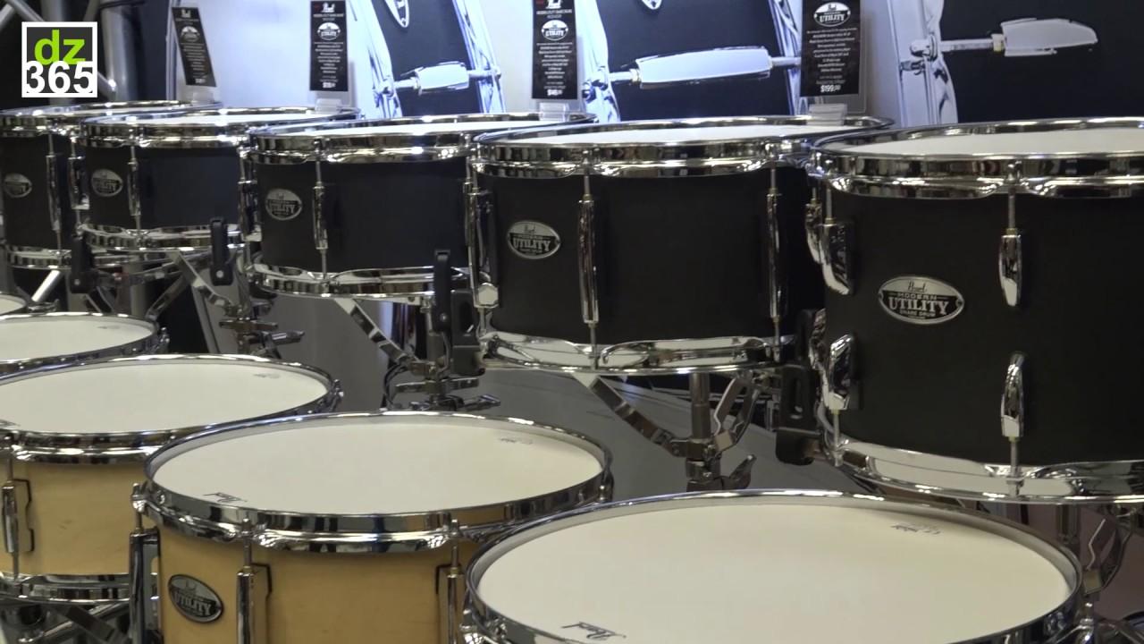 pearl drums modern utility snare drums youtube. Black Bedroom Furniture Sets. Home Design Ideas