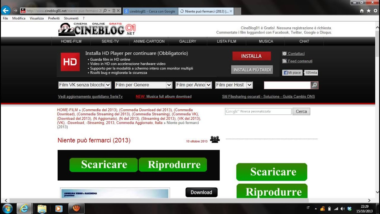 guida come scaricare film in streaming gratis sul pc - YouTube