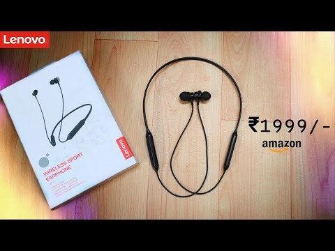 Unboxing & Honest Full Review in Hindi | Lenovo HE15 Bluetooth Neckband Earphones