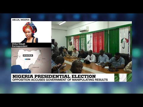Nigeria elections:  opposition party claims vote rigging as Buhari in the lead