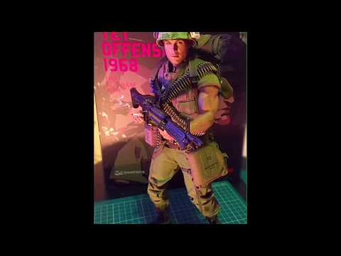 Slideshow Damtoys US marine Tet offensive 1968 1/6 scale figure up close with all accessories on