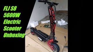 FLJ S8 5600W Dual Motor Electric Scooter Unboxing