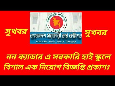 Govt Job Circular: Non-Cader Govt High School Assistant Teachers Job  Circular 2018 Published