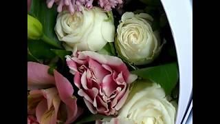 Букет на выписку в люльке. Пионы, розы, эустома, альстромерия(, 2017-07-18T20:17:06.000Z)