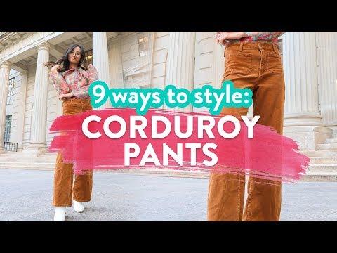 9 WAYS TO STYLE CORDUROY PANTS