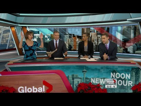 Incredible 12-12-12 moment on live TV in Calgary